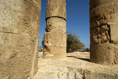 Apollo Temple på akropolen av Rhodes, Grekland Royaltyfri Bild