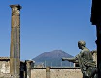 Apollo temple in Pompeii royalty free stock image