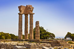 Apollo temple in Rhodes. Royalty Free Stock Photo