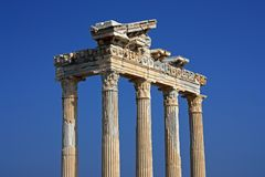 Apollo temple in Side Turkey Royalty Free Stock Photos