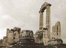 Apollo temple in Turkey Stock Images