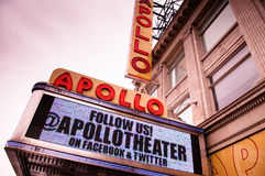 Apollo Theater Foto de Stock Royalty Free