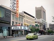 Apollo Theater in Harlem, de Stad van New York Stock Afbeelding