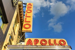 Apollo Theater - Harlem, New York. New York City - August 13, 2016: Apollo Theater in Harlem, New York City. It is one of the oldest and most famous music halls Royalty Free Stock Photos