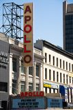 Apollo theatre in Harlem, New York City. NEW YORK CITY, USA – APRIL 2018: Apollo theatre in Harlem in the center of New York City stock photo