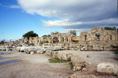 Apollon寺庙在安塔利亚 库存图片