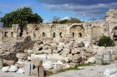 Apollon寺庙在安塔利亚 免版税库存图片