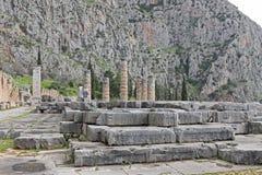 apollon ναός των Δελφών Στοκ Φωτογραφίες