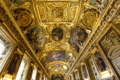 Apollon画廊,天窗,巴黎,法国 库存图片