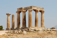 Apollon Corinthe's temple. In Greece, peloponese Royalty Free Stock Images