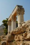 Apollon Corinthe's temple Stock Photo