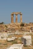 Apollon Corinthe's temple Stock Image