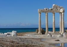 Apollon Tempel in Antalya Lizenzfreies Stockbild