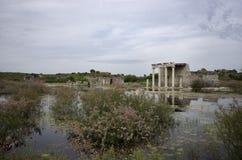 Apollon Temple nella città antica di Mileto, Turchia fotografie stock