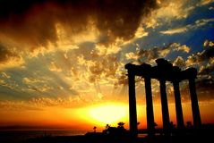Apollon Temple in Side. This ancient temple is in Side-Antalya-Türkiye very important for tourists Royalty Free Stock Photo