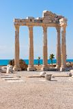 Apollon temple in Side, turkish Riviera Royalty Free Stock Photography