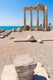 Apollon temple in Side, turkish Riviera Royalty Free Stock Photos