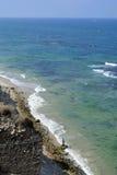 Apollonia beach near Tel Aviv. Royalty Free Stock Photography