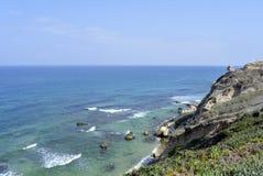 Apollonia beach near Tel Aviv. Royalty Free Stock Photos
