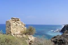 Apollonia fästning nära Tel Aviv Royaltyfria Foton