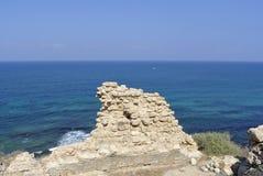 Apollonia strand nära Tel Aviv Royaltyfri Foto