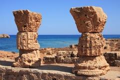 apolloniacyrenaica libya royaltyfria bilder