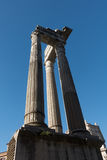 Apolo ` s寺庙和马尔塞洛` s的专栏剧院-令人惊讶的罗马,意大利 免版税库存照片