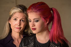 Apologetic Mother and Daughter Royalty Free Stock Photo
