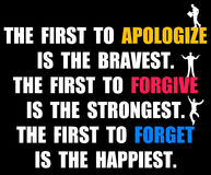 Apologize forgive forget Stock Photo