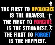 Apologize perdona dimentica illustrazione vettoriale