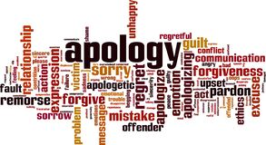 Free Apology Word Cloud Stock Image - 183301741