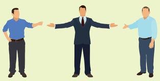 Apontando homens de negócios Imagens de Stock