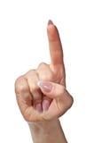 Apontando a mão Foto de Stock Royalty Free