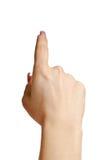 Apontando a mão com o dedo Imagens de Stock