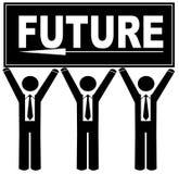 Apontando a maneira ao futuro ilustração royalty free