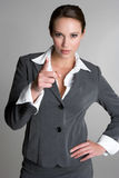 Apontando a mulher de negócios Foto de Stock Royalty Free