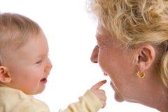 Apontando o bebê Imagens de Stock