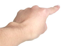 Apontando o dedo Fotografia de Stock