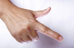 Apontando o dedo Imagem de Stock Royalty Free
