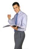 Apontando o homem de negócio Fotografia de Stock