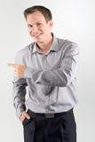 Apontando o homem de negócio Foto de Stock