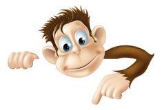 Apontando o macaco Fotografia de Stock Royalty Free