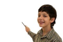 Apontando o menino Foto de Stock