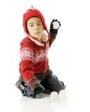 Apontando o Snowball Foto de Stock Royalty Free