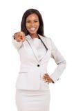 Apontar africano da mulher Imagem de Stock