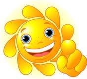 Apontar bonito de Sun Imagens de Stock Royalty Free