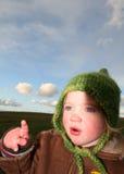 Apontar da criança Foto de Stock Royalty Free