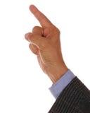 Apontar da mão do homem Foto de Stock