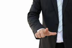 Apontar da mão do homem de negócio Imagens de Stock