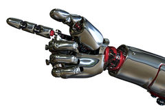 Apontar da mão do robô Imagens de Stock